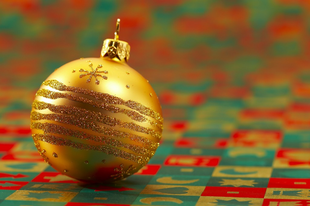 golden festive ball