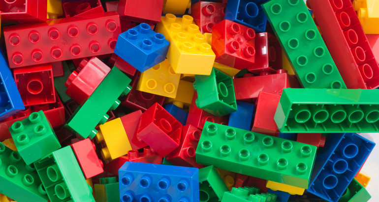 toy cubes full-frame background