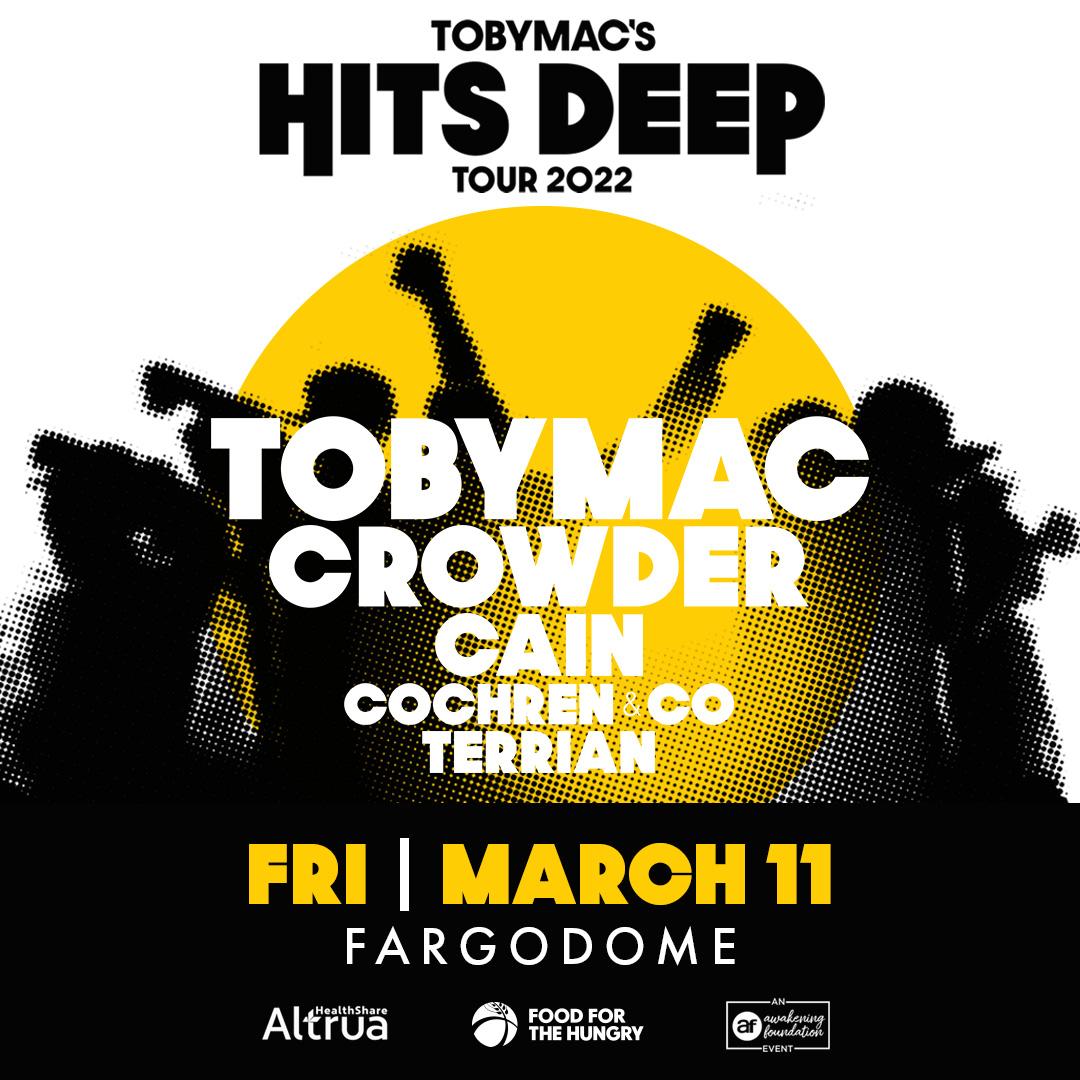 Tobymac's Hits deep tour promo image